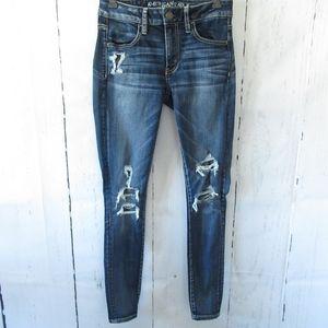 American Eagle Jegging Skinny Jeans Destroyed